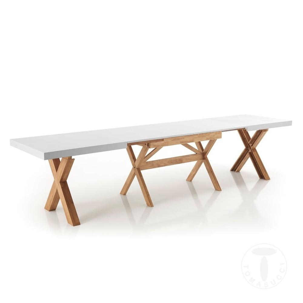 table extensible jolly de tomasucci entierement en bois massif disponible en trois finitions differentes