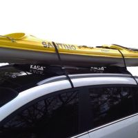 DOUBLE SOFT ROOF RACKS CAR ROOF LUGGAGE KAYAK SURFBOARD ...