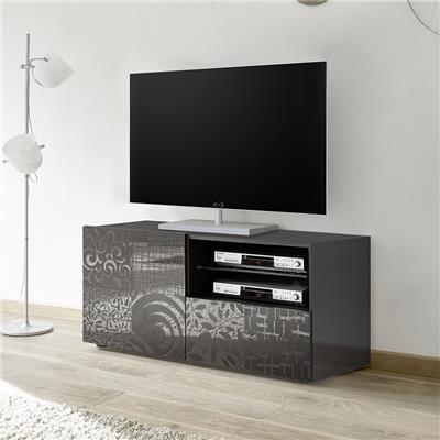 petit banc tv design gris laque nerina 2
