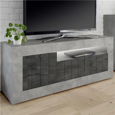 meuble tele moderne gris effet beton mabel 7