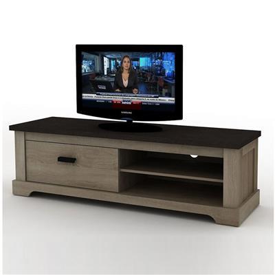 meuble television couleur bois et anthracite johnson