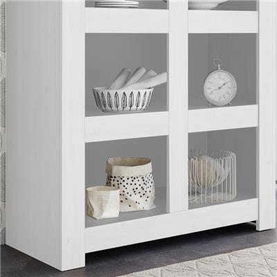 bibliotheque 110 cm design blanc laque agathe