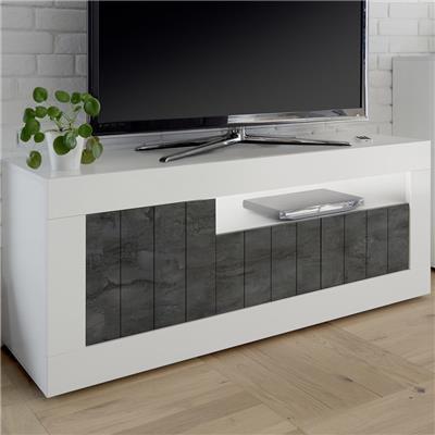 meuble tv blanc et gris fonce moderne mabel 6