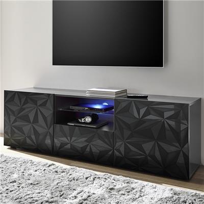 grand meuble tv design gris laque sans eclairage nino 2