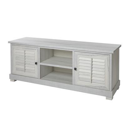 meuble tv contemporain couleur bois blanc aurelia