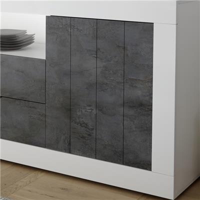 salle a manger complete blanche et grise moderne mabel 6