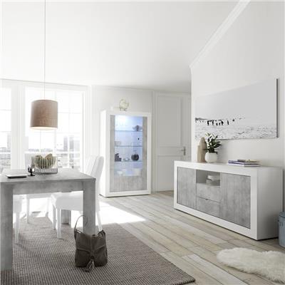 salle a manger blanche et couleur beton gris moderne mabel 5