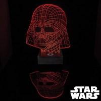 Lampe Star Wars Masque Dark Vador Acrylique Effet 3D : Kas ...