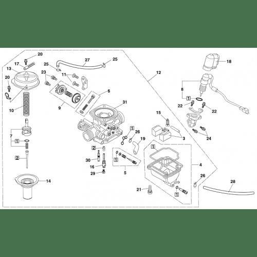 Carburetor (Kasea LM150IIR 2000)