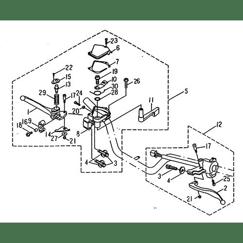 Handle Switch, Lever (LRX/SMC Blast ATV 170)