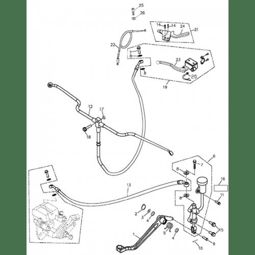 Brake System (Adly ATV 300xs Assault)