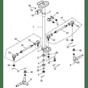 Steering (Adly ATV 90II 4T (CVT))