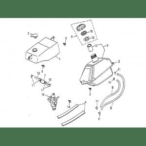 Fuel Tank, Oil Tank (Blazer 90cc ATV)