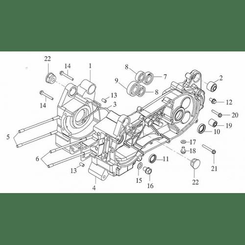 Crankcase (Adly ATV 150S Interceptor)