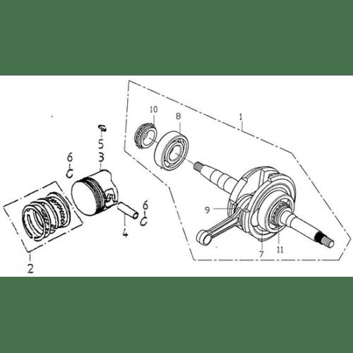Crank Shaft, Piston (Adly ATV 150S Interceptor)