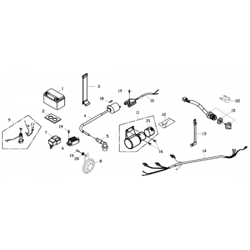 Electrical Parts (Adly ATV 150S Interceptor)