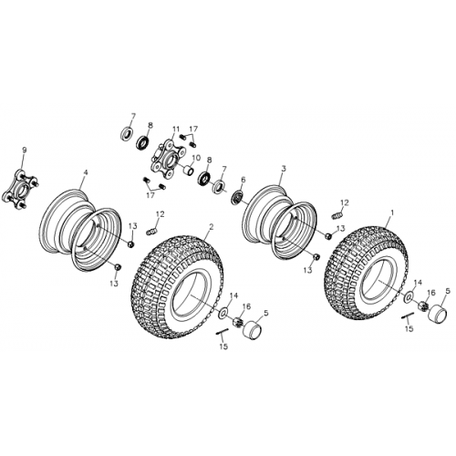 Wheel Front and Rear (Adly ATV Q280)