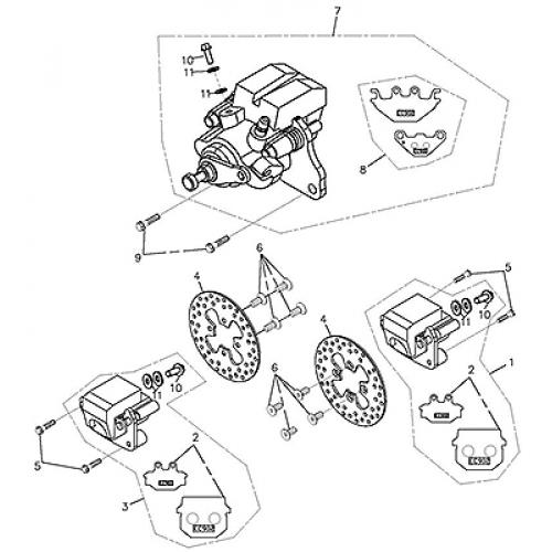 Brake Caliper (Adly ATV Q300)