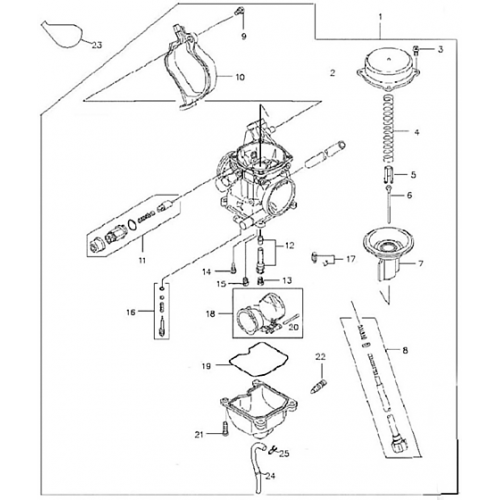 Carburetor (Adly ATV Q300)