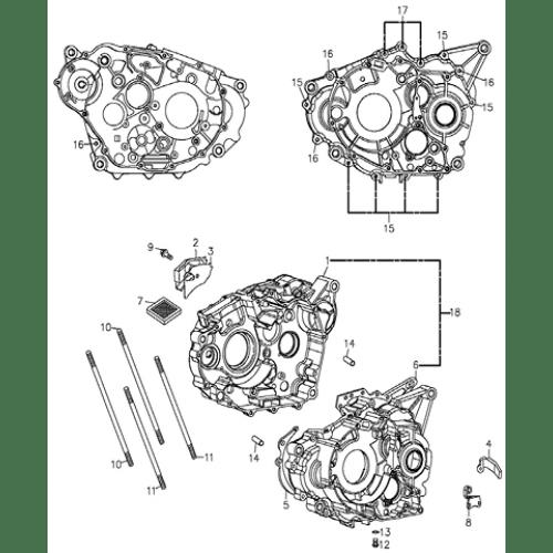Crankcase (Adly ATV 300U II)