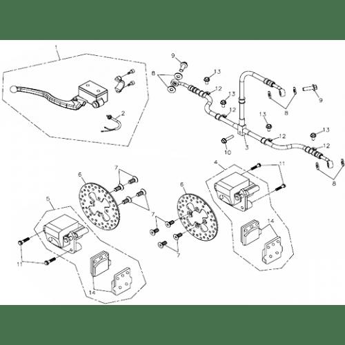 Brake Caliper (Adly ATV 300U II)
