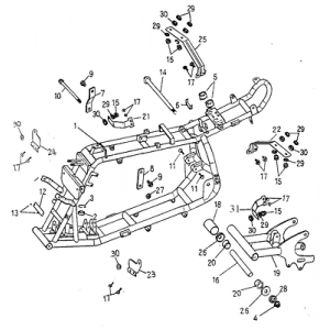 Frame Body (Adly ATV 90cc 2T)