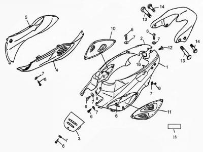 50cc Scooter Body Kits Tao Tao Scooter Body Kit Wiring