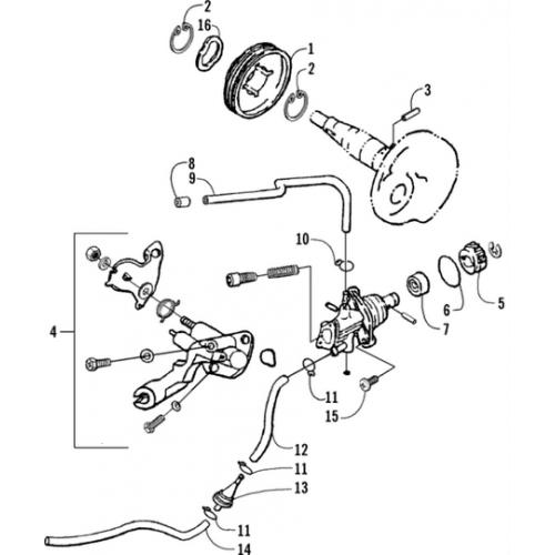 Oil Pump Assembly (Arctic Cat 90 2T)