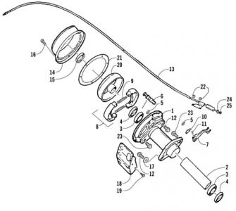 Rear Brake Assembly (Arctic Cat 90 2T)