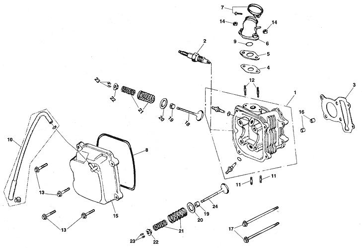 Cylinder Head Assy (Kasea LM150IIR 2000)