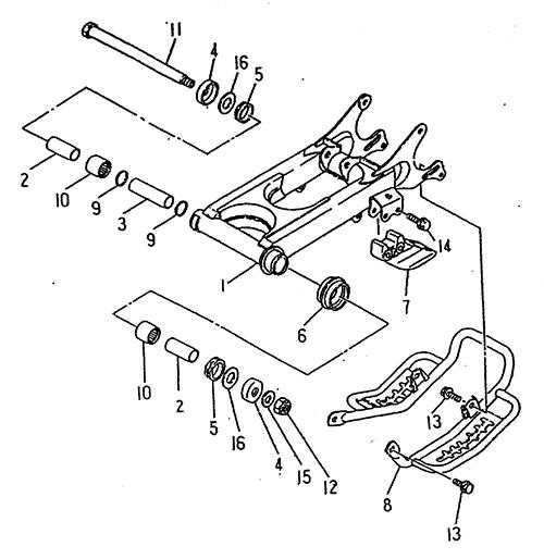 Rear Arm (LRX/SMC Blast ATV 170)