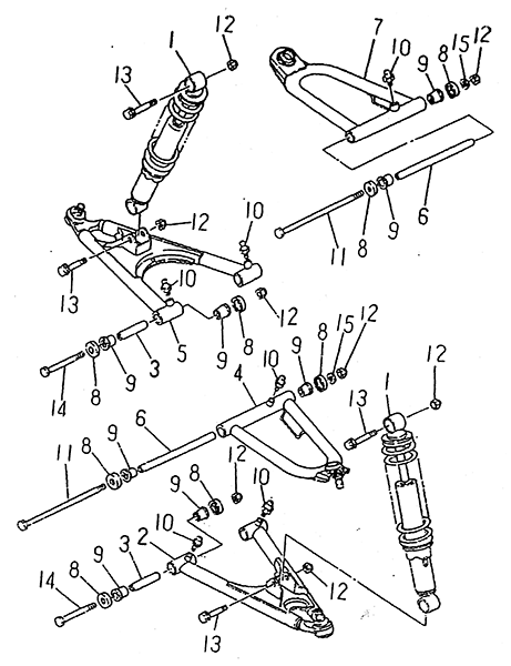 Front Suspension (LRX/SMC Blast ATV 170)