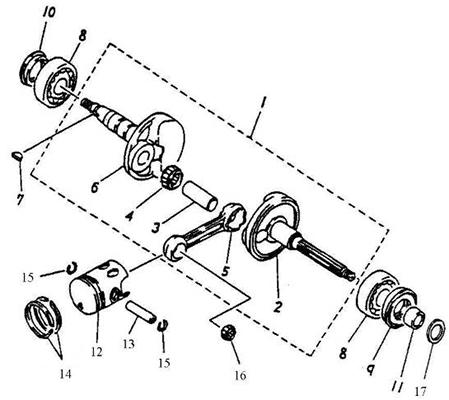 Crankshaft, Piston (Silver Fox 50)