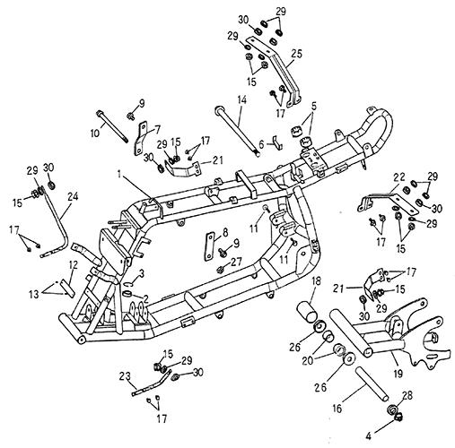 Frame Body (Blazer 50cc ATV)
