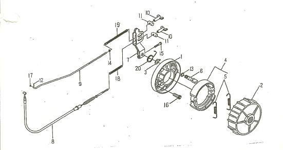 Rear Brake (LRX/SMC Blast ATV 90/100)