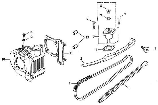 Cam Chain, Cylinder (Adly ATV 150S Interceptor)