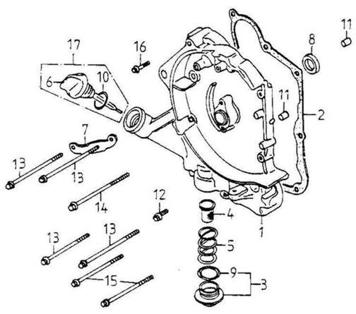 Right Crankcase Cover (Adly ATV 150S Interceptor)