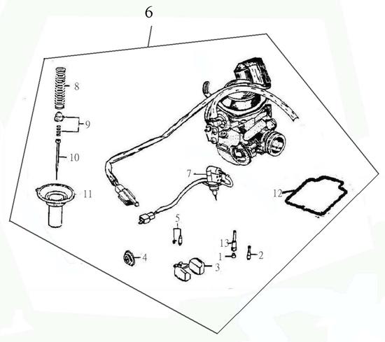 Carburetor (Adly ATV 150S Interceptor)