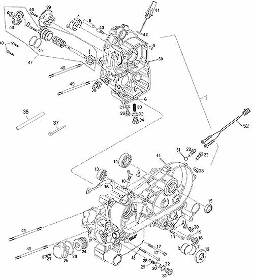 Crankcase (Adly ATV 200S)