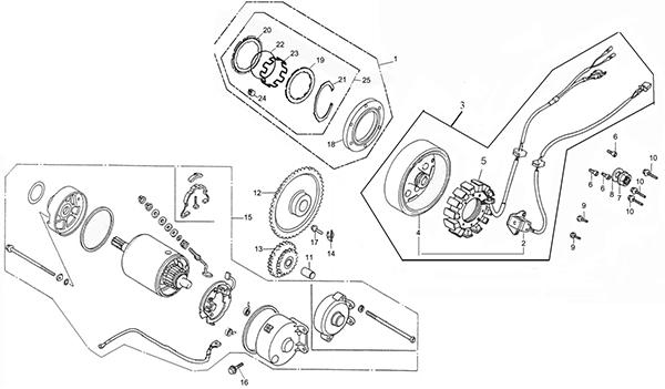 Generator / Starting Motor (Adly ATV Q280)