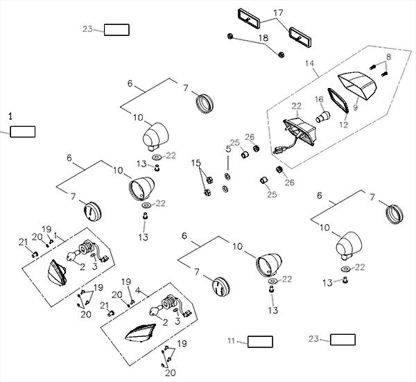 Signal Light / Tail Light (Adly ATV Q280)