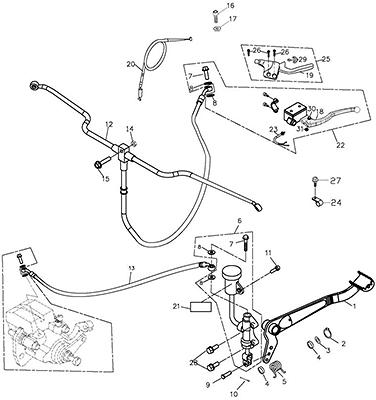 Brake System (Adly ATV Q300)