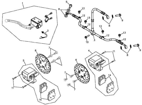 Front Brake (Adly ATV 300S Interceptor)