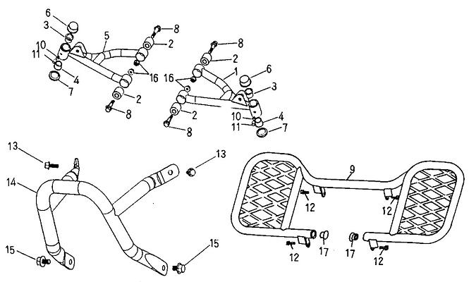Arm, Floor Panel, Bumper (Adly ATV 50cc 2T)