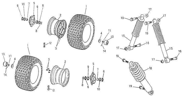 Front Wheel, Suspension (Adly ATV 50cc 2T)