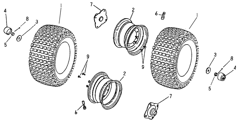 Rear Wheel (Adly ATV 50cc 2T)
