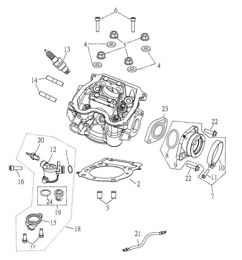 Cylinder Head (Adly Mini Car 320)