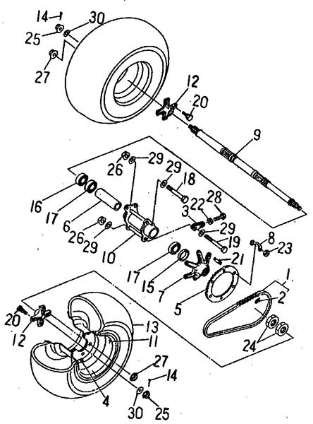 Rear Wheel (Barossa ATV 170)