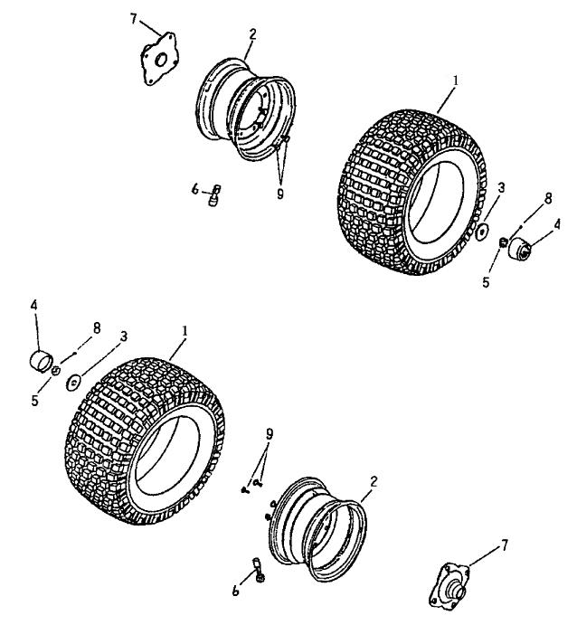 Rear Wheel (Bombardier Mini DS 90 2T)