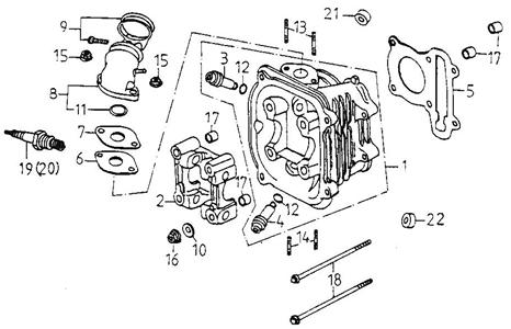 Cylinder Head (Adly GK-125 2009)